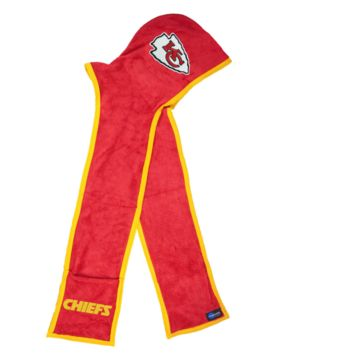 Kansas City Chiefs Ultra Fleece Hoodie Scarf with Pockets