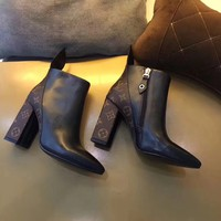 LV Women's Fashion shoes Short boots
