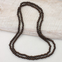 Long Wood Bead Necklaces