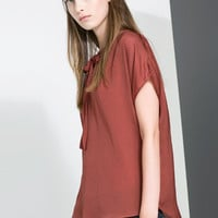 FLOWING BLOUSE WITH SMALL POLKA DOTS - Shirts - Woman | ZARA United States
