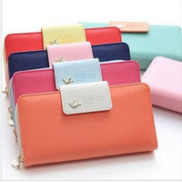 Hot Selling ! 2015 New Arrival High Quality Women Wallet Brand Women's Clutch  Bag Candy Color Woman Long  Purses
