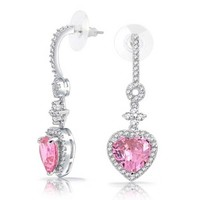 Bling Jewelry Pink Passion Hearts