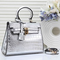 Hermes Fashion New Texture Leather Shopping Leisure Shoulder Bag Handbag Women