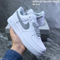 HCXX N971 Nike AIR Force 1 AF1 Static Refective Low Casual Skate Shoes White Gray