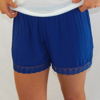 The Lacey Shorts {Navy}
