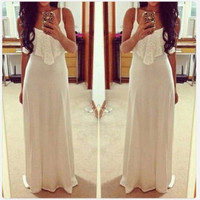 Sexy maxi sleeveless backless bodycon bandage Casual beach Party long Dresses = 1931486084