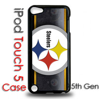 IPod 5 Touch Black Plastic Case Pittsburgh Steelers Football
