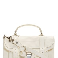 Proenza Schouler White Luxe Leather Tiny Ps1 Satchel