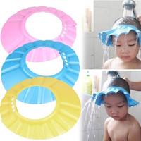 Intelligent Home Furnishing Adjustable Baby Child Kids Shampoo Bath Shower Cap Hat Wash Hair Shield = 1946240900