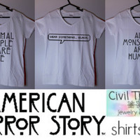 American Horror Story Shirts || Vnecks ( & Cropped Sweaters Coming Soon )