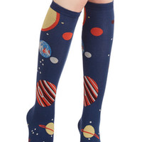 Cosmic Galaxy Me Shine Socks by ModCloth