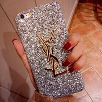 YSL Trending Stylish Shiny Diamond Case For iphone 6 6s 6plus 6s-plus 7 7plus iPhone8 iPhone X
