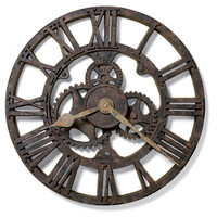 0-013797>Allentown Wall Clock Rusted Antique