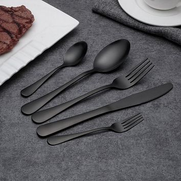 Hot Sale Black Dinnerware Stainless Steel Set - Makes Great Gift!