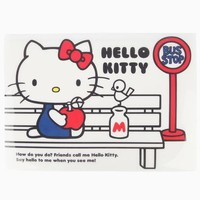 Hello Kitty Snap Fastener Envelope: Bus Stop Collection