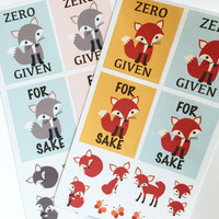 Fox Foxes Planner Stickers Set (For Fox Sake, No Fox Given)