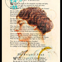 Roman Beauty 1912 Pencil Drawing Beautifully Upcycled Vintage Poetry Page Book Art Print