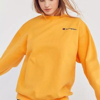 Champion logo Print Long-Sleeves Round Neck Women Casual Sweater Top