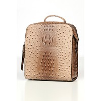 Set The Standard Crocodile Print Mini Backpack (Taupe)