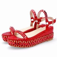 Christian Louboutin CL Pyraclou 6cm or 11cm Wedges Style #37 - Best Online Sale