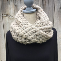 Worth the Wait Infinity Scarf- Taupe