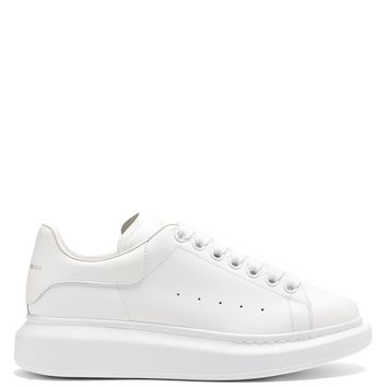 Raised-sole low-top leather trainers | Alexander McQueen | MATCHESFASHION.COM US