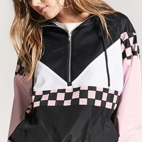 Checker & Mesh Colorblock Anorak