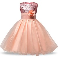 Children Christmas Dresses For Girls Wedding Party Baby Girl Kids Prom Gown Dress Teenager Girl Clothing