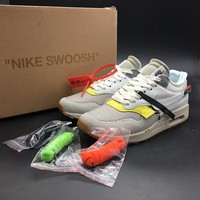 THE 10 : OFF WHITE x Nike Air Max 1 BespokeIND AA7293-100 Sport Running Shoes - Best Online Sale