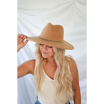 Take The Scenic Route Hat - Camel