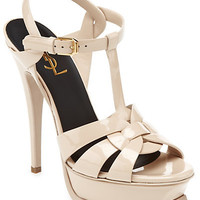 """Some of you have to get in on this: Yves Saint Laurent """"Tribute"""" Patent Platform Sandal"""