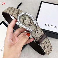 GUCCI New fashion more letter leather couple belt 2# width 3.8 cm With Box