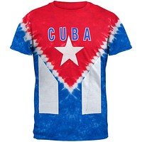 Cuban Flag Tie Dye T-Shirt