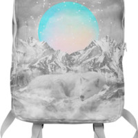 Put Your Thoughts To Sleep (Peaceful Moon / Wolf Spirit) Backpack created by soaringanchordesigns | Print All Over Me