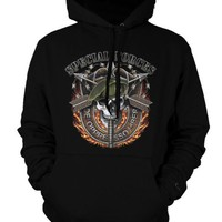 U.S. Army Special Forces Mens Sweatshirt, De Oppressor Liber, To Liberate the Oppressed Pullover Hoodie