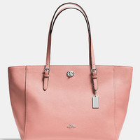 COACH TURNLOCK TOTE IN CROSSGRAIN LEATHER | Dillards