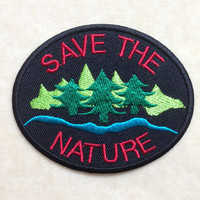 Save The Nature Iron On Patch #2
