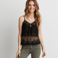 AEO Embroidered Mesh Cami