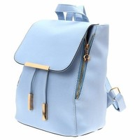 Fashion Elegant Fashion Girl School Travel Softback Pu Leather Vintage Backpack
