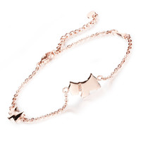 Han edition fashion accessory Lovely dog bone foot chain Ms titanium steel rose gold plated chains