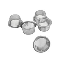 Smoking Pipes Stainless Steel 5Pcs/lot Quartz Crystal Wand Metal Filters Accessories For Tobacco Pipe 15x8mm