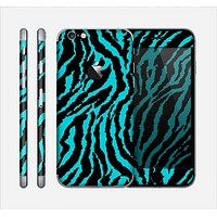 The Vector Teal Zebra Print Skin for the Apple iPhone 6