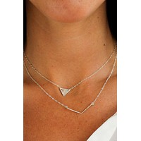 Hammered Chevron Necklace - Christine Elizabeth Jewelry