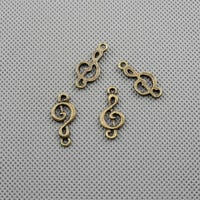 50x Jewellery Supply Supplies Charms Pendant Retro Vintage Craft Alloys Bronze Jewelry Findings A1984 Music symbol Note