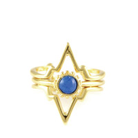 Power of Three Ring in Gold with Lapis