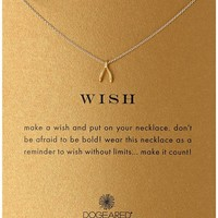 "Dogeared ""Reminder"" Wishbone Chain Necklace, 16"""
