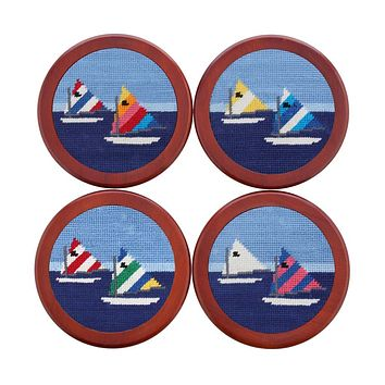 Day Sailor Needlepoint Coasters by Smathers & Branson