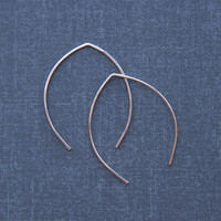 Hammered Wishbone Arc Earrings