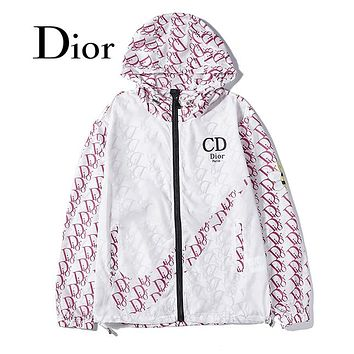 Dior Hooded Zipper Cardigan Sweatshirt Jacket Coat Windbreaker Sportswear