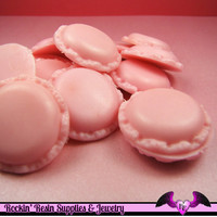 4 pcs Pink MACARON Miniature Sweets Decoden Base Cabochon 20x14mm